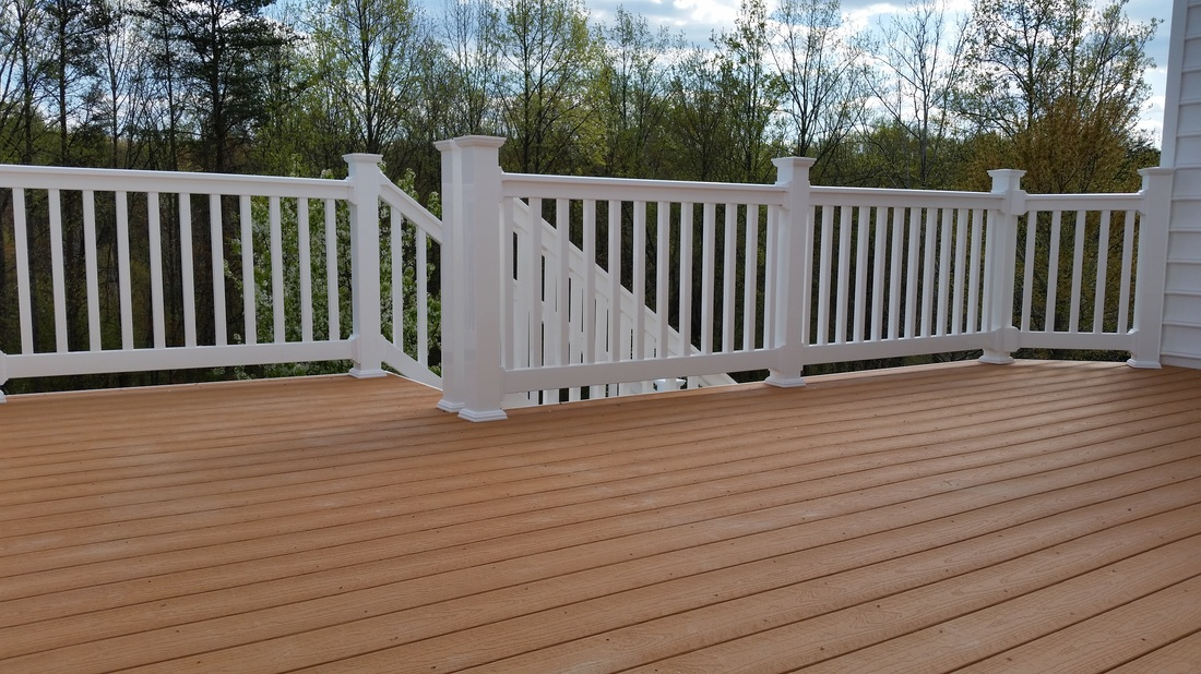 Capped composite decking maryland deck builders the for Capped composite decking