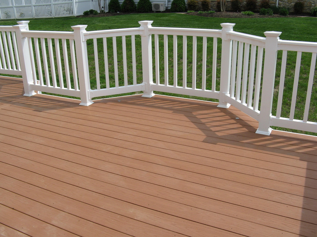 Baltimore Maryland Maintenance Free Azek Fawn Decking With White PVC  Railings.